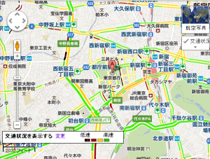 Google渋滞情報